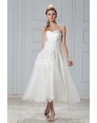 Cheville longueur des robes de mari e vous faire la plus for Meilleurs concepteurs de robe de mariage de plage
