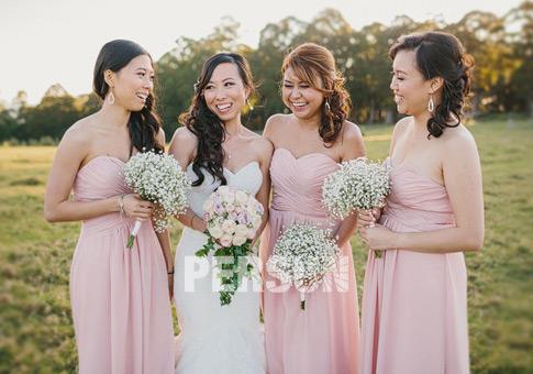 avis robes témoins mariage couleur carnation rose de persun