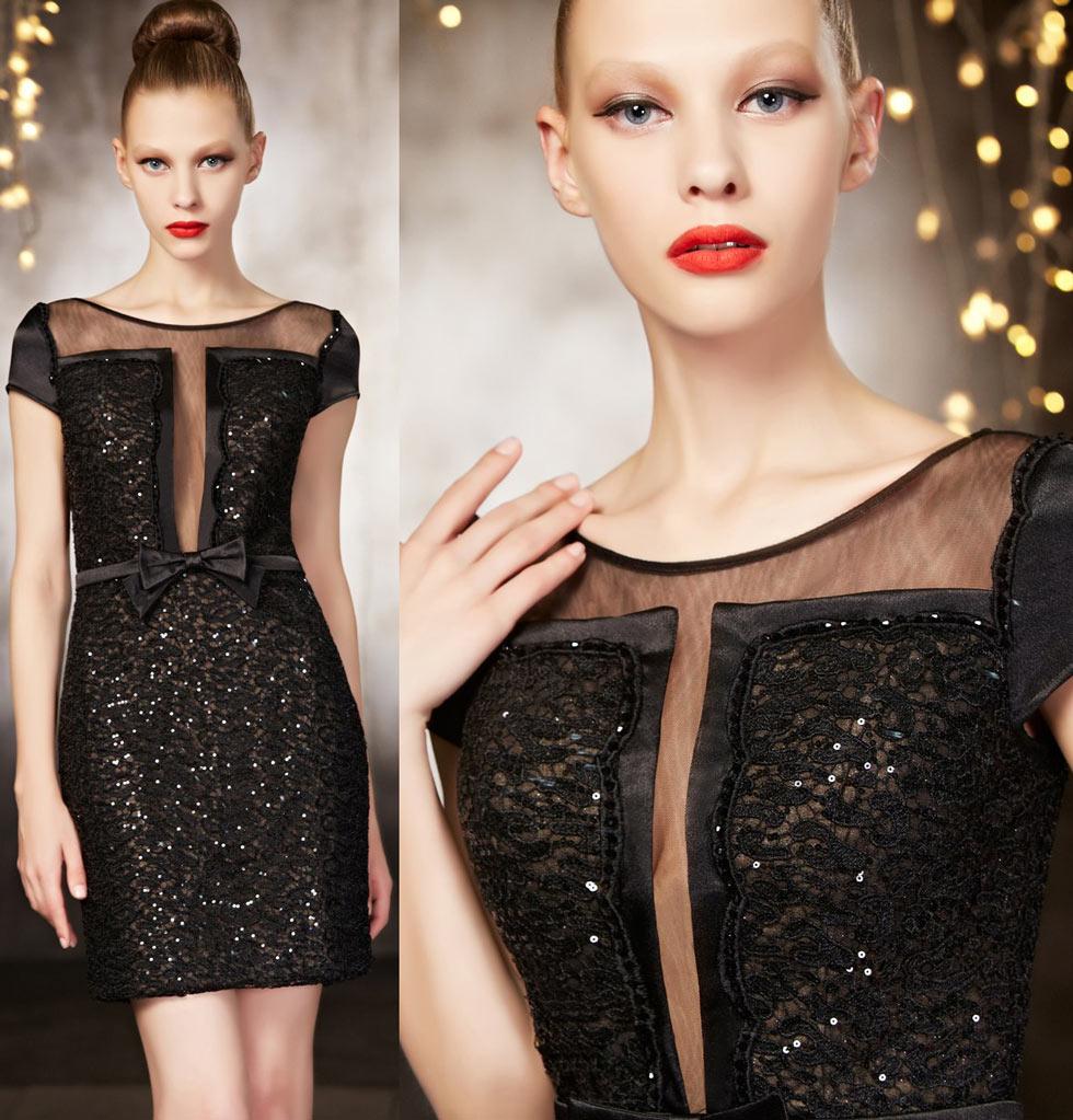 petite robe noire 2015 sequins