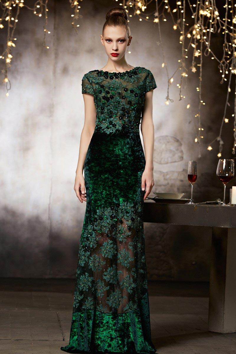 Robe de cocktail courte couture