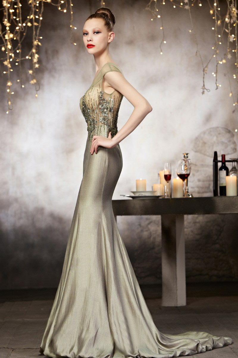 Robe longue soiree luxe
