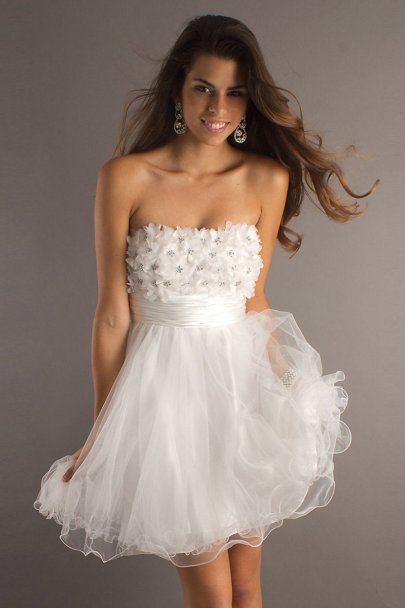 Robe cocktail bustier tulle