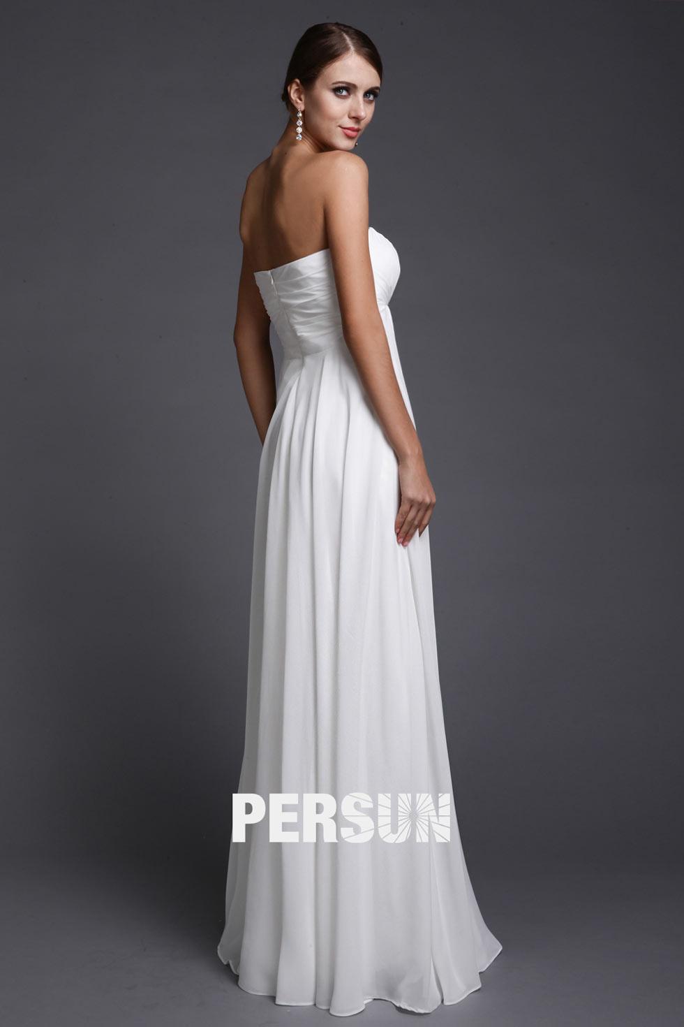 robe soirée blanche