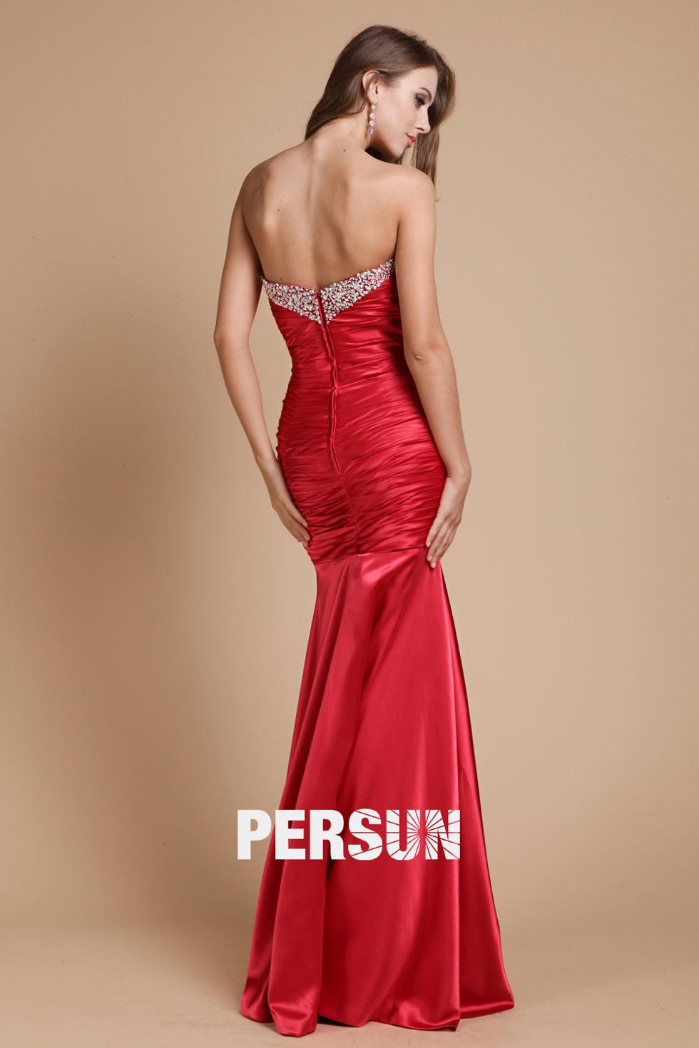 robe satinée pour soirée de mariage