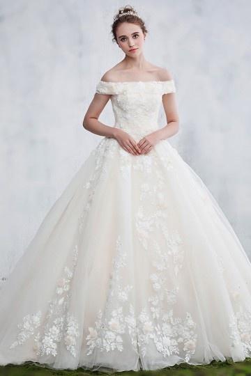 Robe de mariée dentelle 2018 épaules dénudées