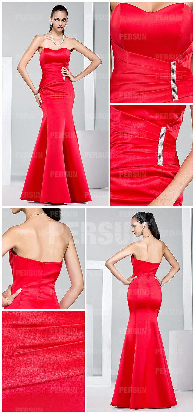 robe rouge très près du corps pour mariage
