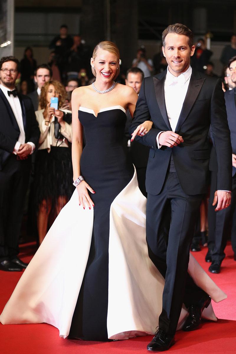 Robe bal noir et blanche de Blake Lively à Cannes mai 2014