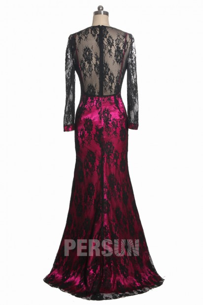 Sexy Lace Back Evening dress in Black on Cara Delevingne