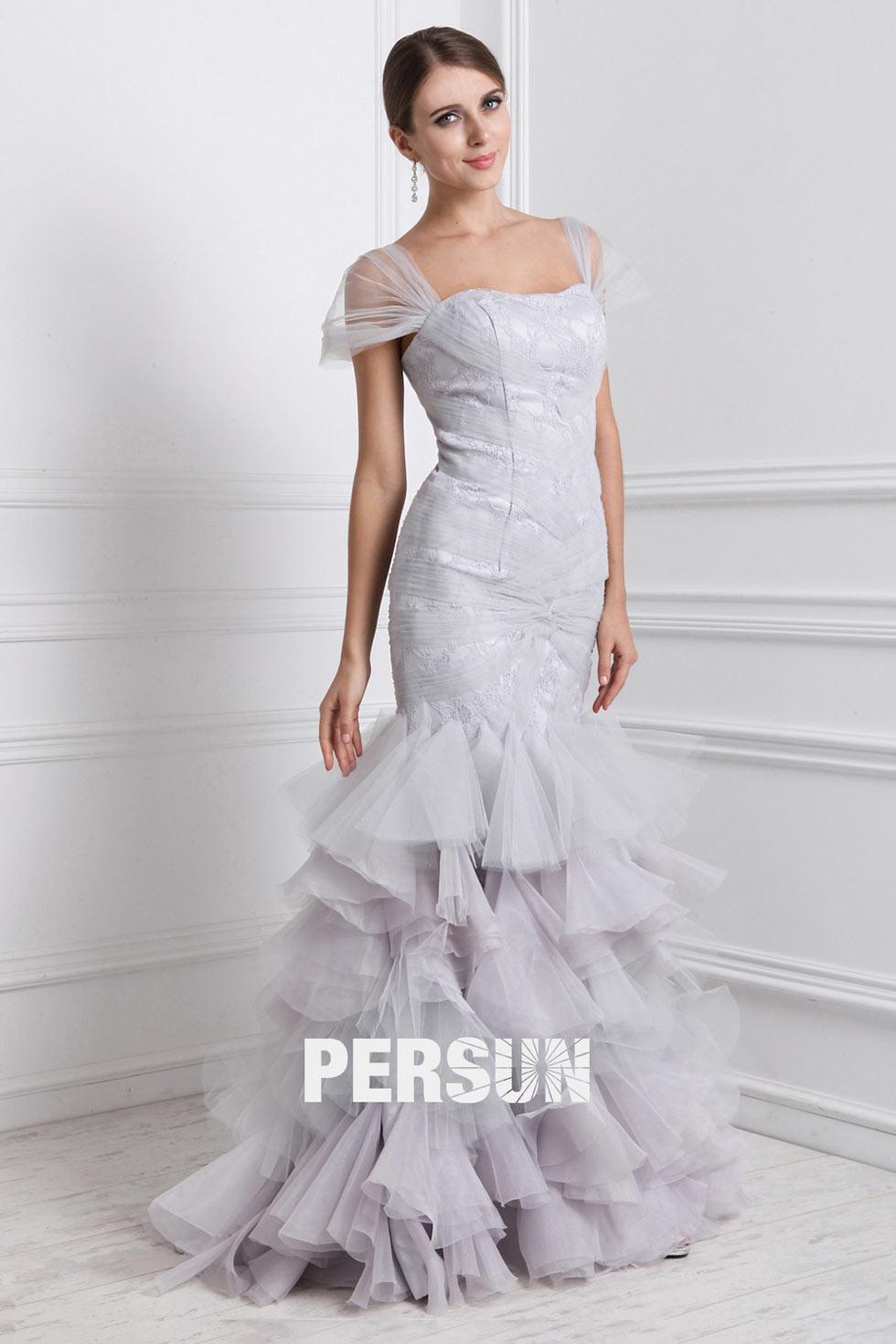 robe de mariée en sirène à mancheron