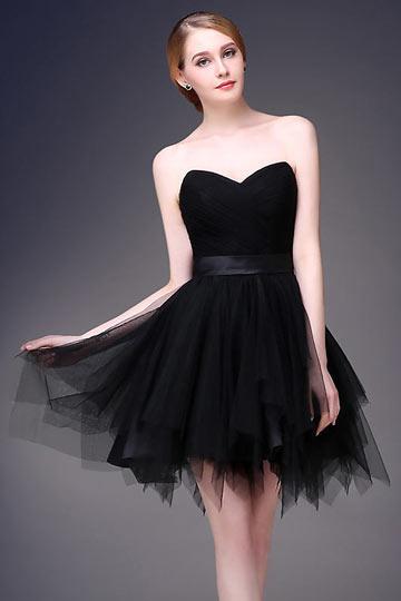 Mini robe parme bustier cœur pour bal