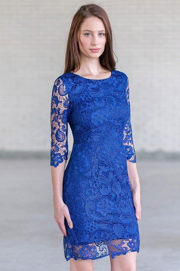 9c9e5406bae Robe bleu en dentelle robe longue marron