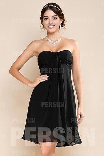 Petite robe noire à col droit pour bal