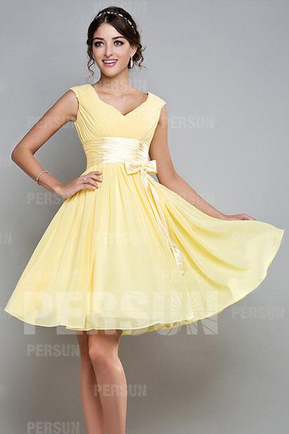 robe-pour-mariage-jaune-en-mousseline