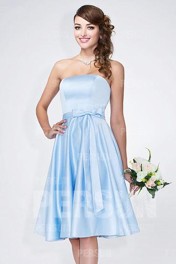 23db317000e Robe courte bleu pastel bustier coeur pour mariage