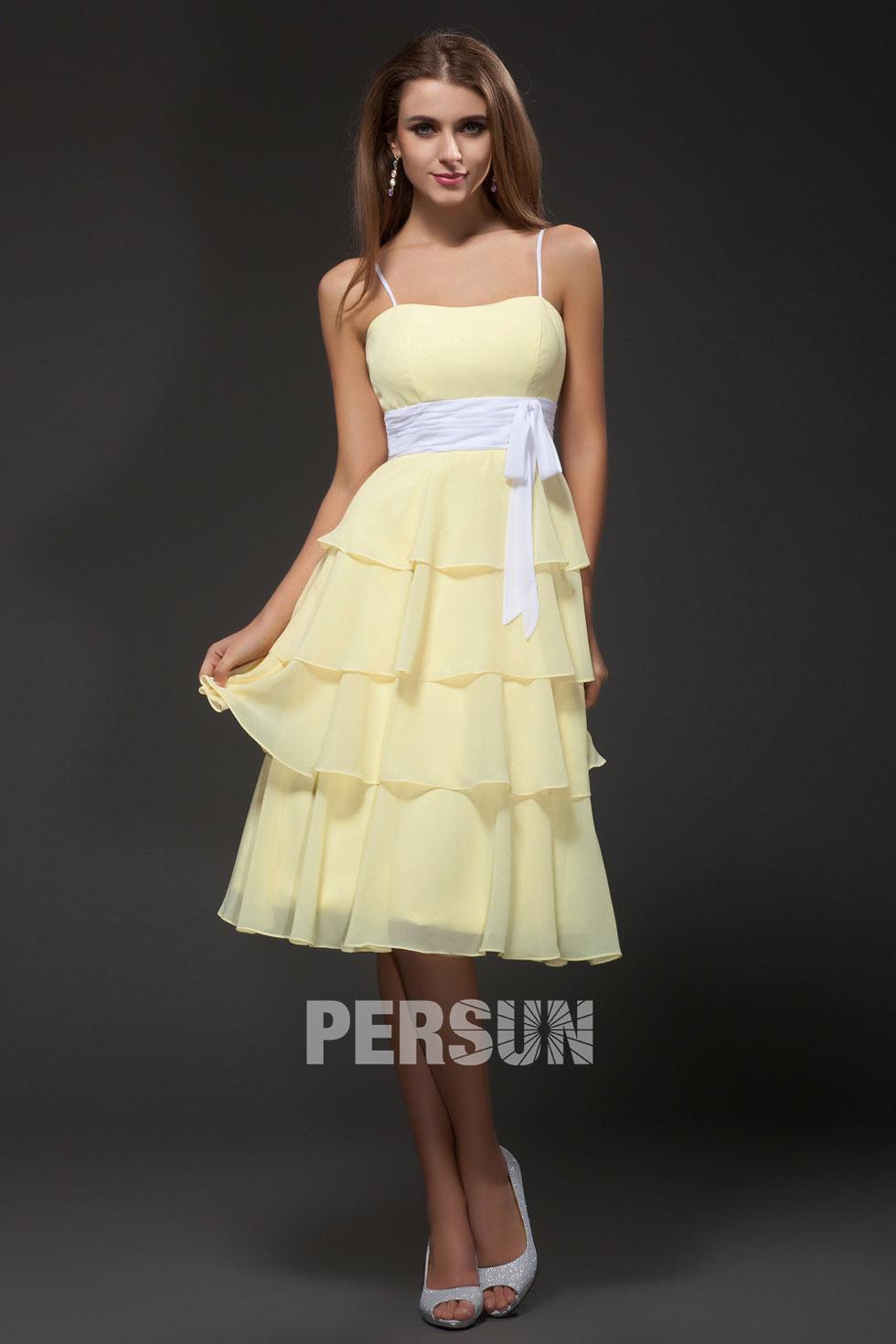 robe demoiselle d'honneur pastel avec bretelle fine