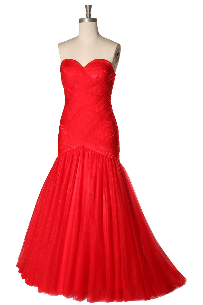 Robe de soiree rouge chic