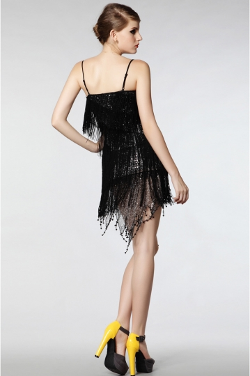 robe pour danser franges orn e de paillettes sequin. Black Bedroom Furniture Sets. Home Design Ideas