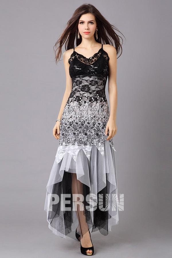 a4202e96053 Robe blanche dentelle noire robe blanc bleu