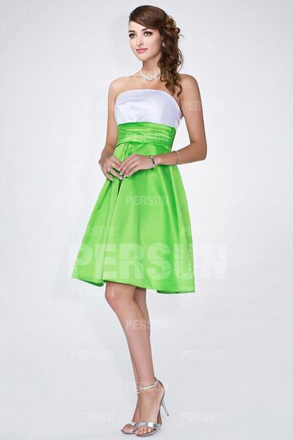 66288ad96fc Robe verte et blanche robe a deux couleur