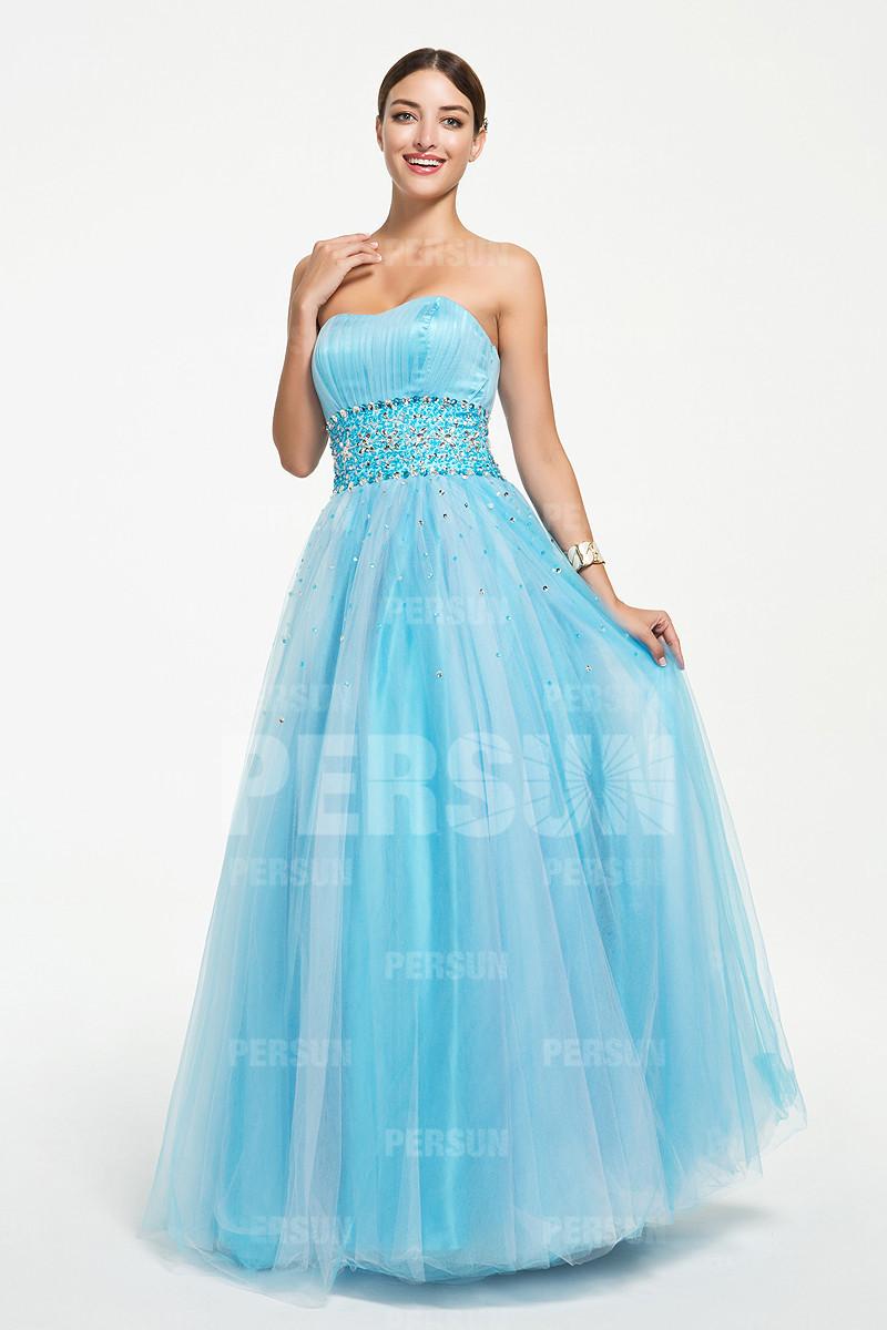 Robe pastel en tulle pour bal et soir e for Robe couleur pastel pour mariage