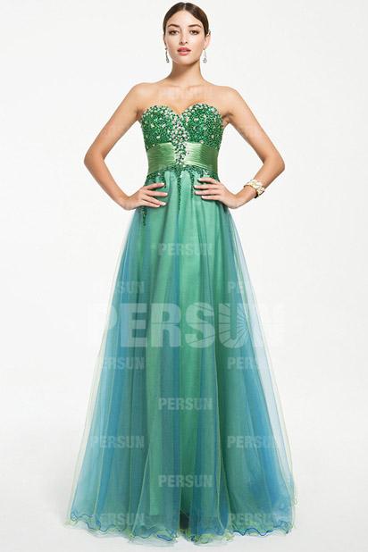Verte robe longue pour soirée