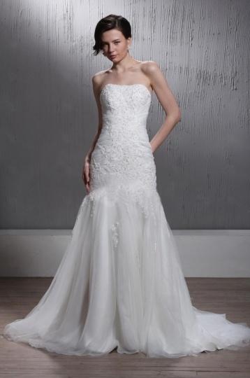 Robe de mariée vintage Fourreau sans bretelle