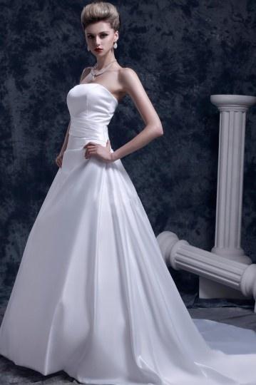 robe de mari e bustier simple et chic sans bretelle dos nu. Black Bedroom Furniture Sets. Home Design Ideas