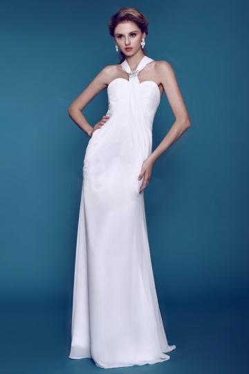 Robe de mariée encolure et dos en Y simple