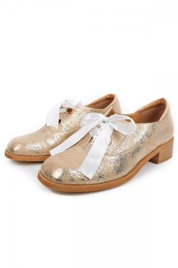 Chaussures de ville femme basse vintage noeud papillon