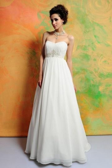 Simple robe de mariée à bustier cœur