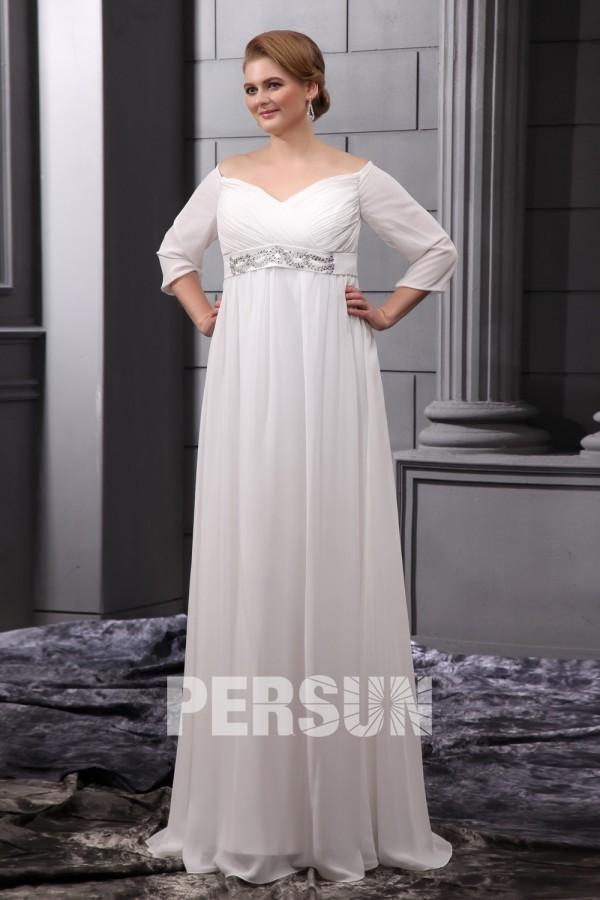 robe de mari e grande taille vintage paule d gag manches