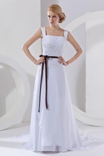 robe de mari e d collet carr avec bretelle en mousseline