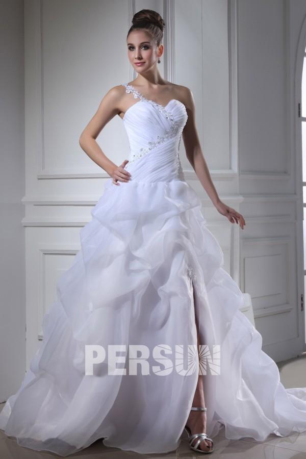 Robe de mariée moderne décolleté en cœur à seule épaule en ...