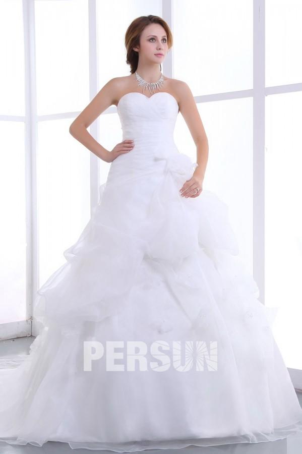 ... de mariée princesse Robe de mariée bustier décolleté en cœur sans