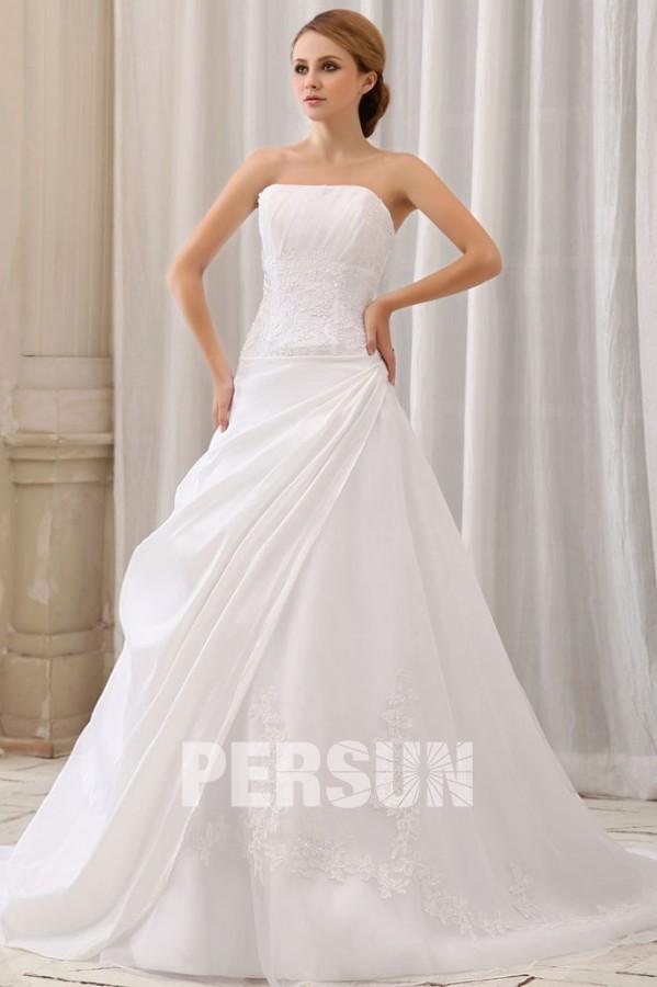 de mariée Robe de mariée princesse Robe de mariée simple bustier ...