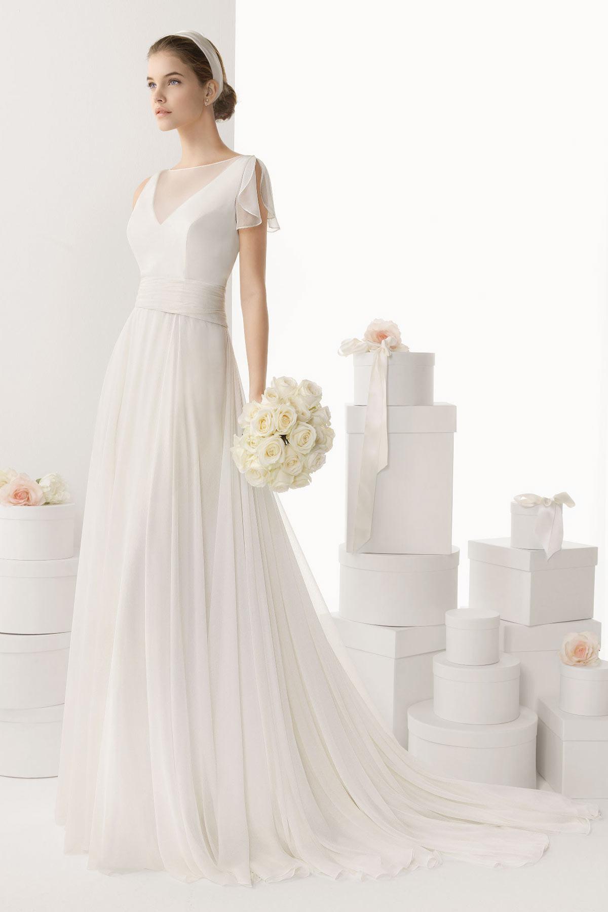 de mariée Robe de mariée 2015 Simple Robe de mariée à coupe fluide ...