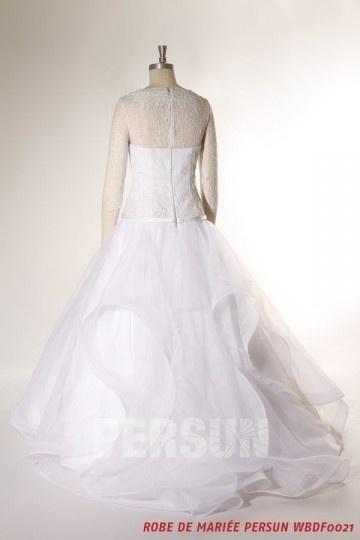 robe-de-mariee-jupe-romantique-a-haut-dentelle-avec-manches