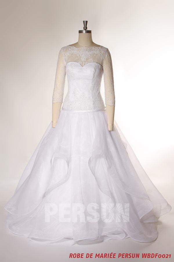 robe-de-mariee-vaporeuse-princesse-avec-manches-trois-quart