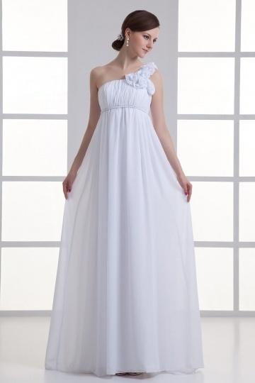 Empire robe pour femme enceinte à seule épaule fleurie