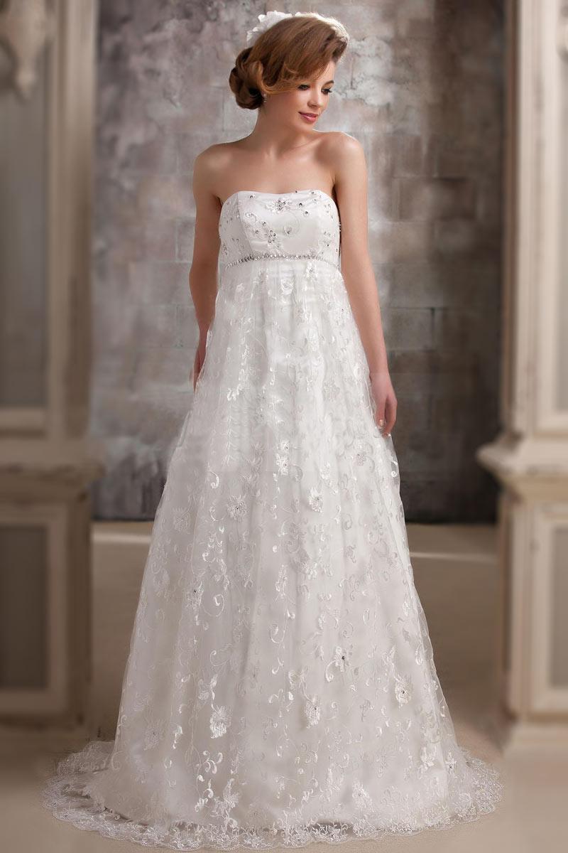 ... Robe de mariée dentelle Robe de mariée grossesse rétro en dentelle