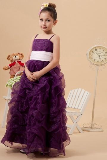 robe cort ge fille raisin d collet carr longue ruch e. Black Bedroom Furniture Sets. Home Design Ideas
