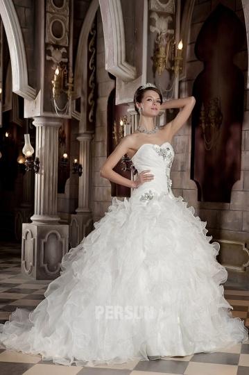 Robe de mariée princesse vintage à bustier cœur