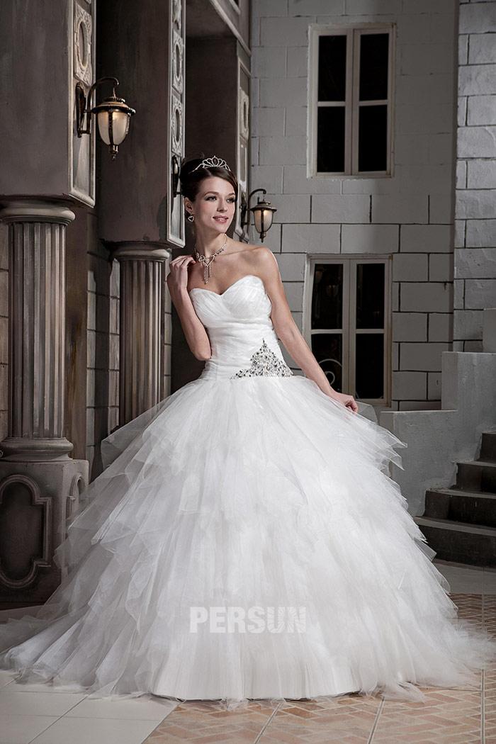robe princesse d collet en c ur avec jupe bouffante