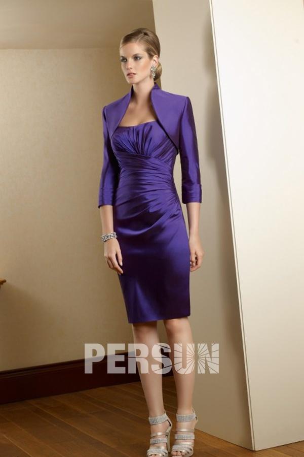 robe pour personnes g es enveloppe en taffetas violette. Black Bedroom Furniture Sets. Home Design Ideas