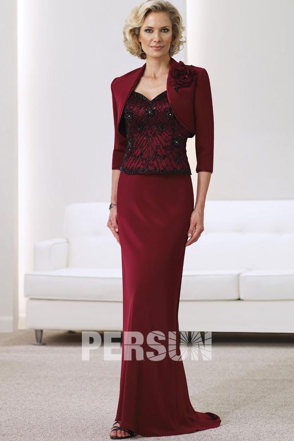robe pour personne g e dentelle aux bretelle en satin. Black Bedroom Furniture Sets. Home Design Ideas