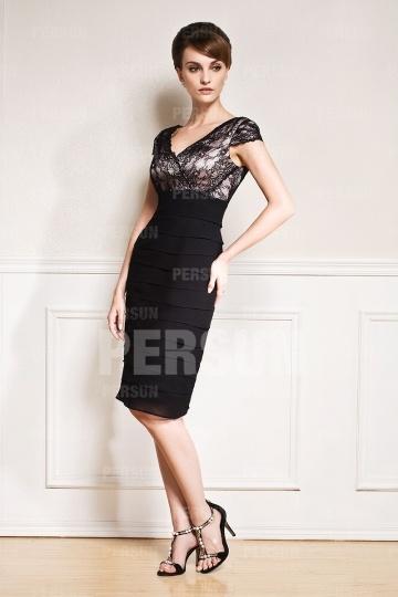 noire robe fourreau pour invite mariage - Robe Noire Invite Mariage