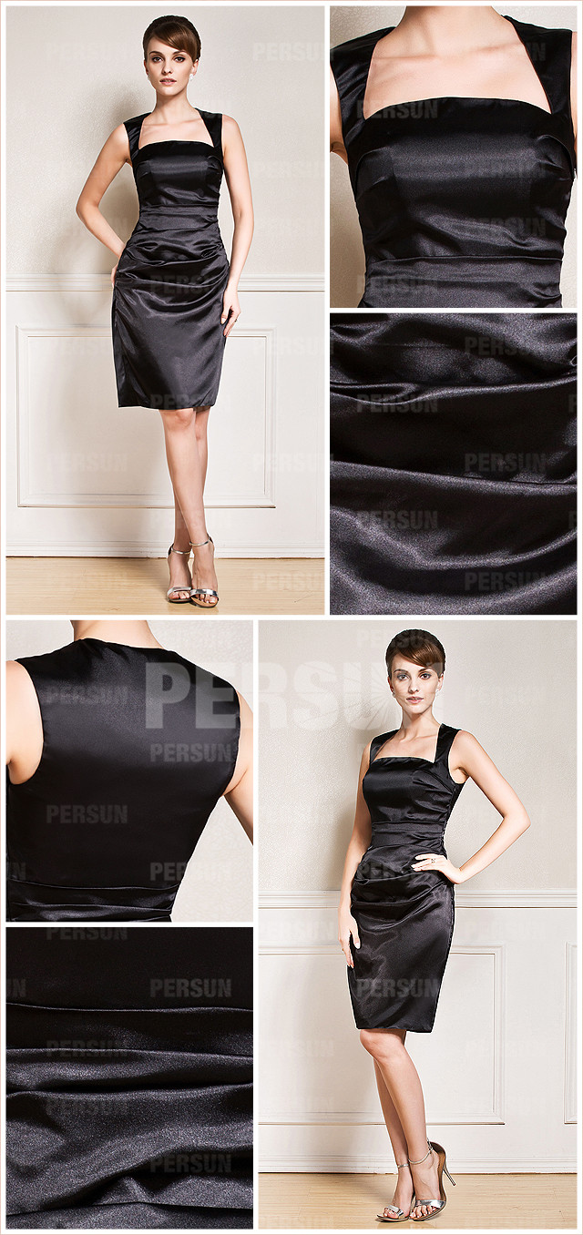 petite robe soirée noire longue genou