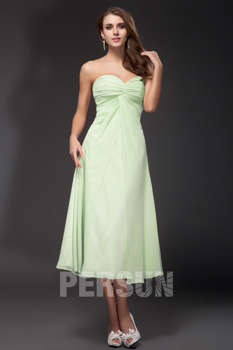 robe pastel longueur mollet pour la demoiselle d'honneur