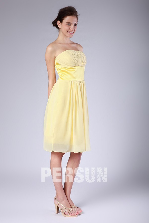 Robe cocktail jaune pas cher