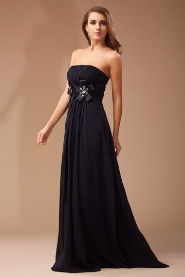 robe-de-soiree-noire-bustier-longue